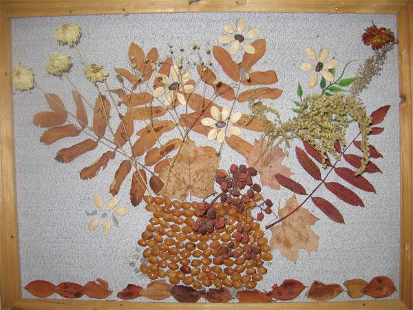 Работа с природным материалом поделки